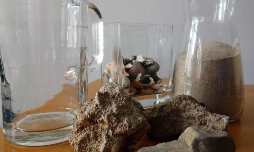 Steine, Sand und Muscheln…